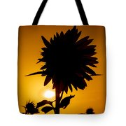Silhouette Of The Sunflower Tote Bag