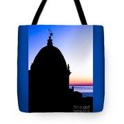 Silhouette Of Vernazza Duomo Dome Tote Bag
