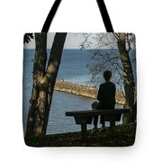 Silhouette On The Hill Tote Bag