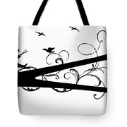 Silhouette Scissors Tote Bag