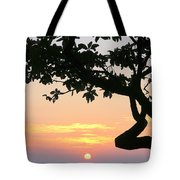 Silhouette Sunrise Tote Bag