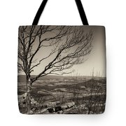 Silhouetted Above A Flat Earth Tote Bag