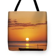 Silhouetted Boat Tote Bag