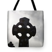 Silhouetted Celtic Cross Tote Bag