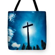 Silhouetted Cross Tote Bag