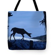 Silhouetted Deer Tote Bag