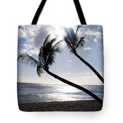 Silhouetted Palm Trees On Maui Beach Tote Bag