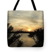 Silhouettes Of Sunset Tote Bag