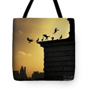 Silhouettes Of The Cormorants Tote Bag