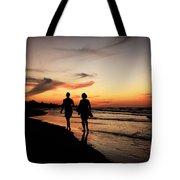 Silhouettes On Varadero Beach Tote Bag