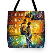 Silhouettes - Palette Knife Oil Painting On Canvas By Leonid Afremov Tote Bag