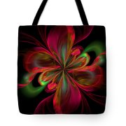 Silk Butterfly Abstract Tote Bag