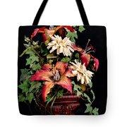 Silk Flowers Tote Bag by Jeff Burton