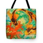Silk Koi Tote Bag