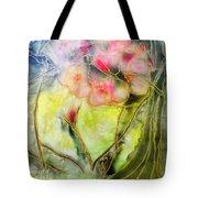Silky Almond Flower Tote Bag