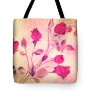Silky Red Roses Tote Bag