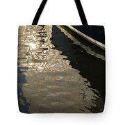 Silky Swirls And Zigzags - A Waterfront Abstract Tote Bag