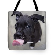 Silly Boxer Sticking Tongue Out Tote Bag