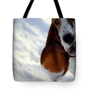 Silly Basset Hound  Tote Bag