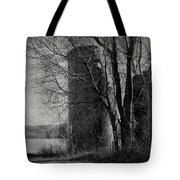 Silos - Black And White Tote Bag
