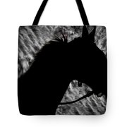 Silouette Of A Stallion Tote Bag