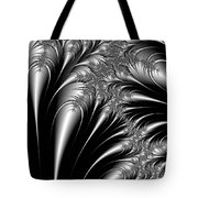 Silver And Black Abstract Tote Bag