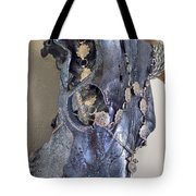 Silver And Black Illuminating Bull Skull Tote Bag