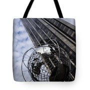 Silver And Blue Planet Earth Tote Bag