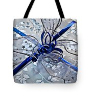 Silver And Blue Wrapped Gift Art Prints Tote Bag