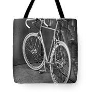 Silver Bike Bw Tote Bag