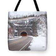 Silver Creek Cliff Tunnel Winter 1 Tote Bag