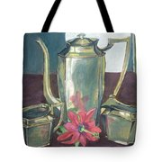 Silver Dish Tote Bag