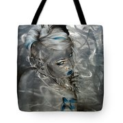 Silver Flight Tote Bag