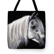 Grey Arabian Mare Painting Tote Bag