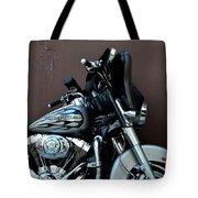 Silver Harley Motorcycle Tote Bag