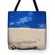 Silver Lake Dune With Dead Tree Branch And Cirrus Clouds Tote Bag