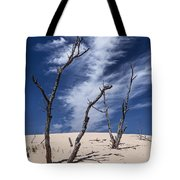 Silver Lake Dune With Dead Trees And Cirrus Clouds Tote Bag
