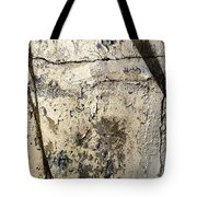Silver Paint Texture Tote Bag