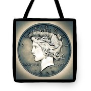 1922 Silver Proof Peace Dollar Tote Bag