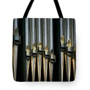 Silver Pipes Tote Bag