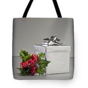 Silver Present Tote Bag