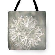 Silver Puff Tote Bag