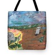 Silver Rose Tote Bag