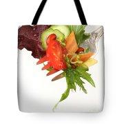 Silver Salad Fork Tote Bag