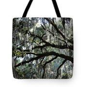 Silver Savannah Tree Tote Bag