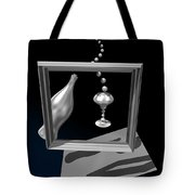 Silver Space Champagne Tote Bag