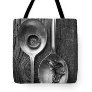 Silver Spoons Black And White Tote Bag