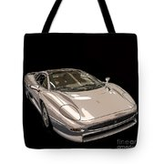 Silver Sports Car Tote Bag by Edward Fielding