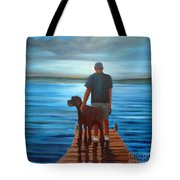 Silver Sunset Tote Bag