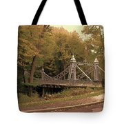 Silver Suspension Bridge Tote Bag